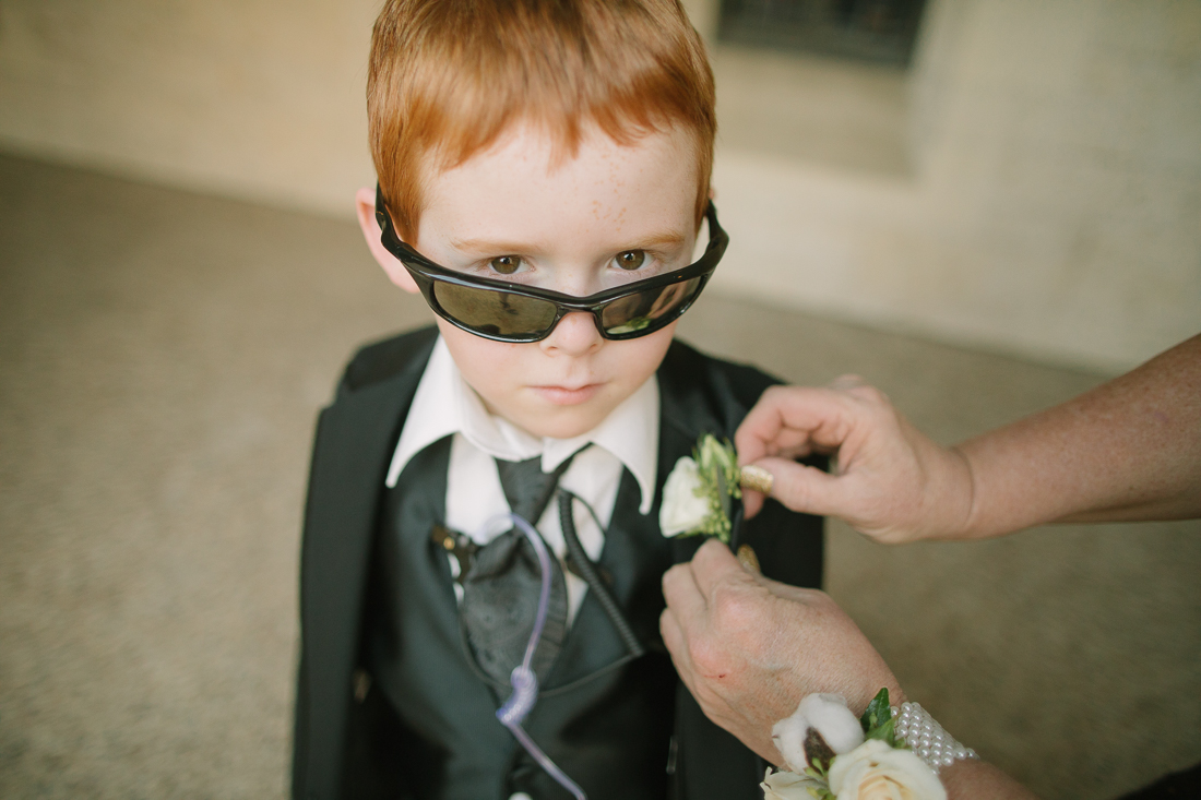 getting ready wedding pics ringbearer university of texas at austin
