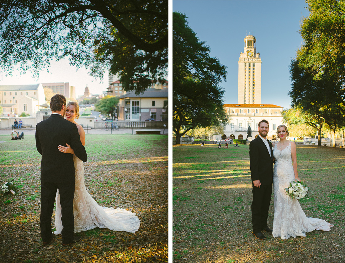 longhorn wedding at the main quad