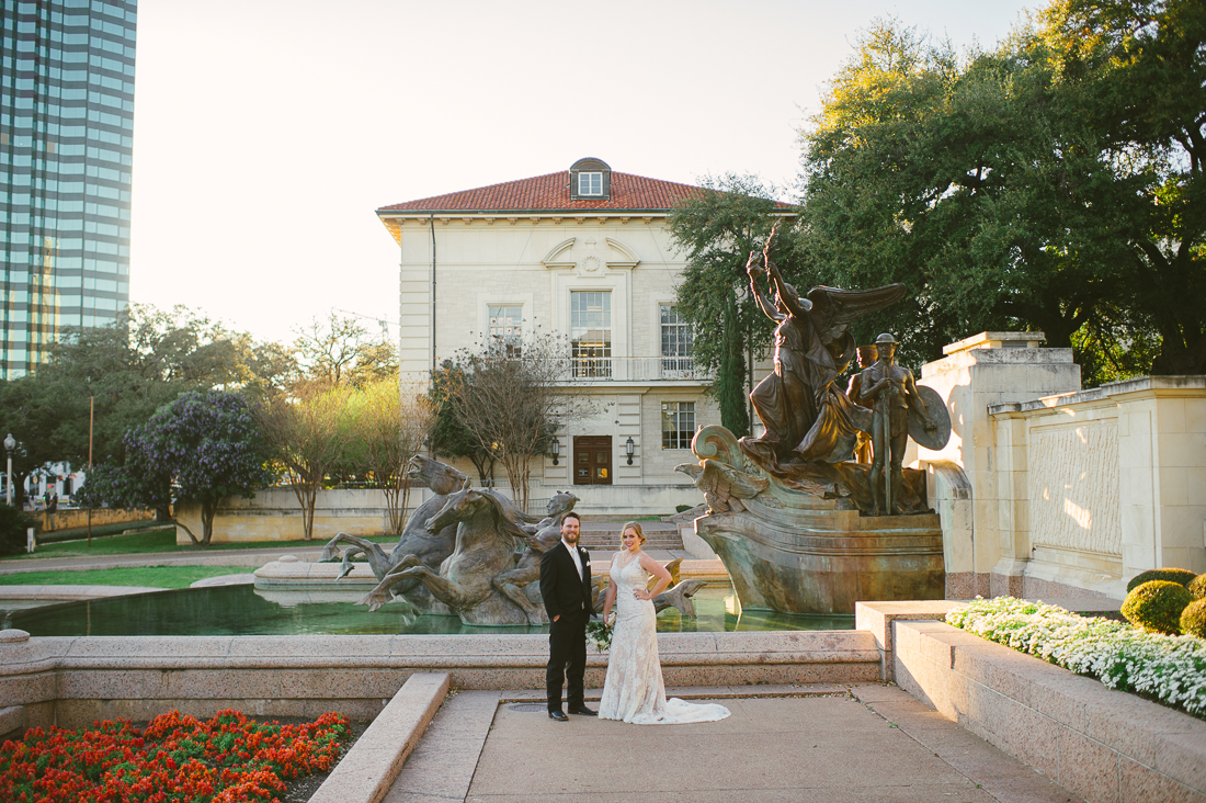 bride and groom portraits at university of texas at austin