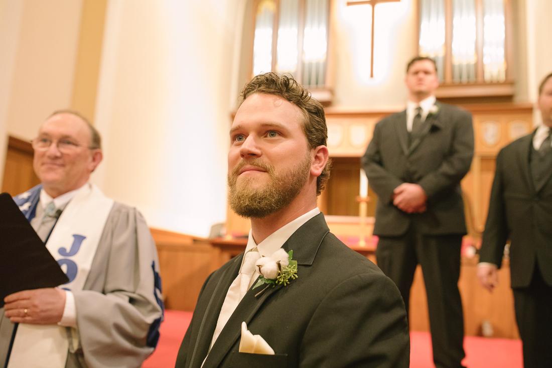 wedding ceremony at university christian church