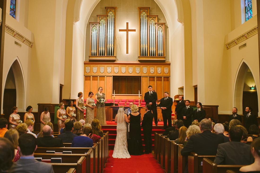 university christian church ut wedding
