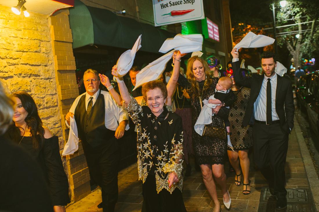 second line wedding mardi gras