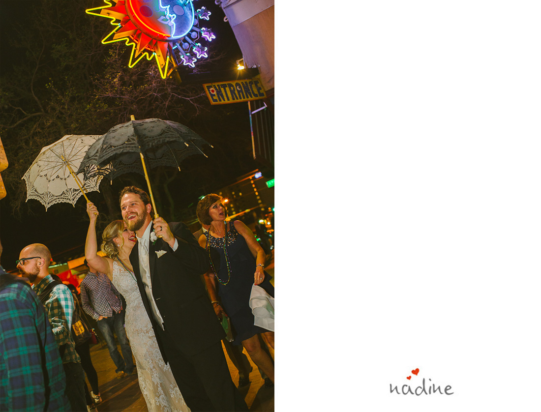 mardi gras wedding second line