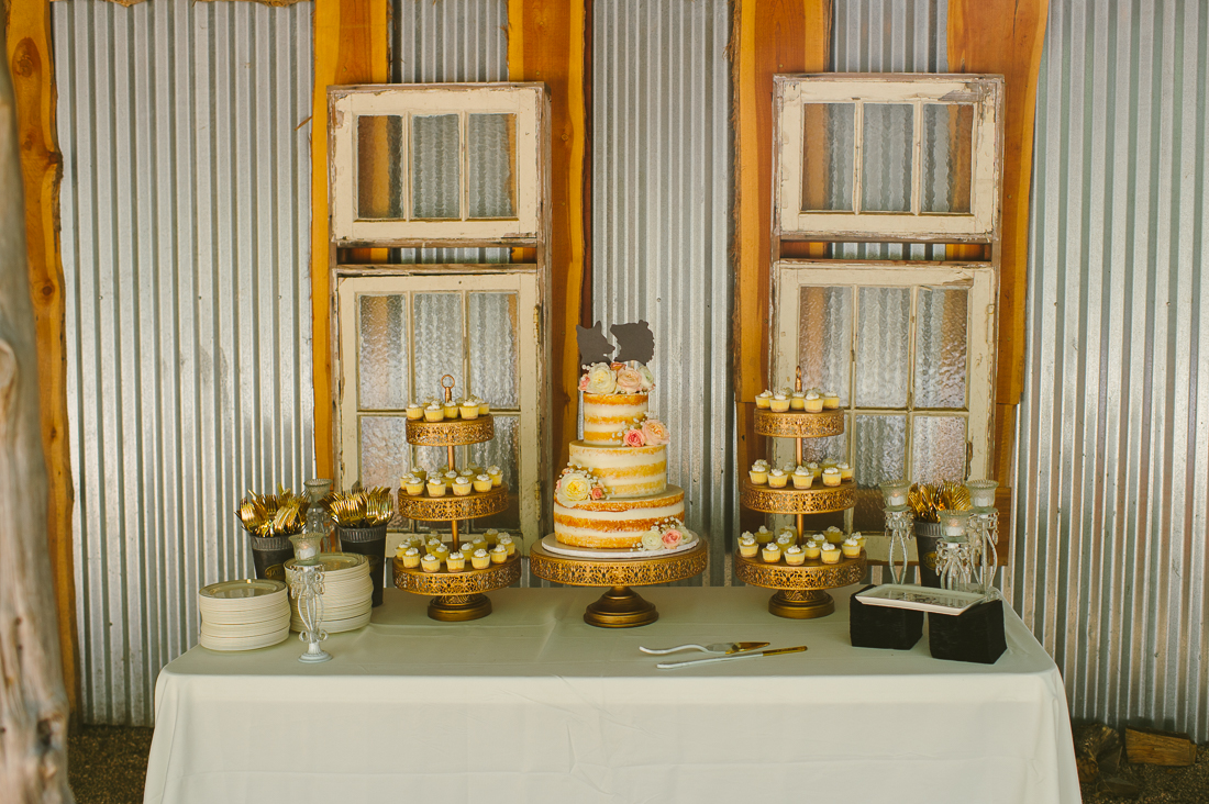 cake with metal background