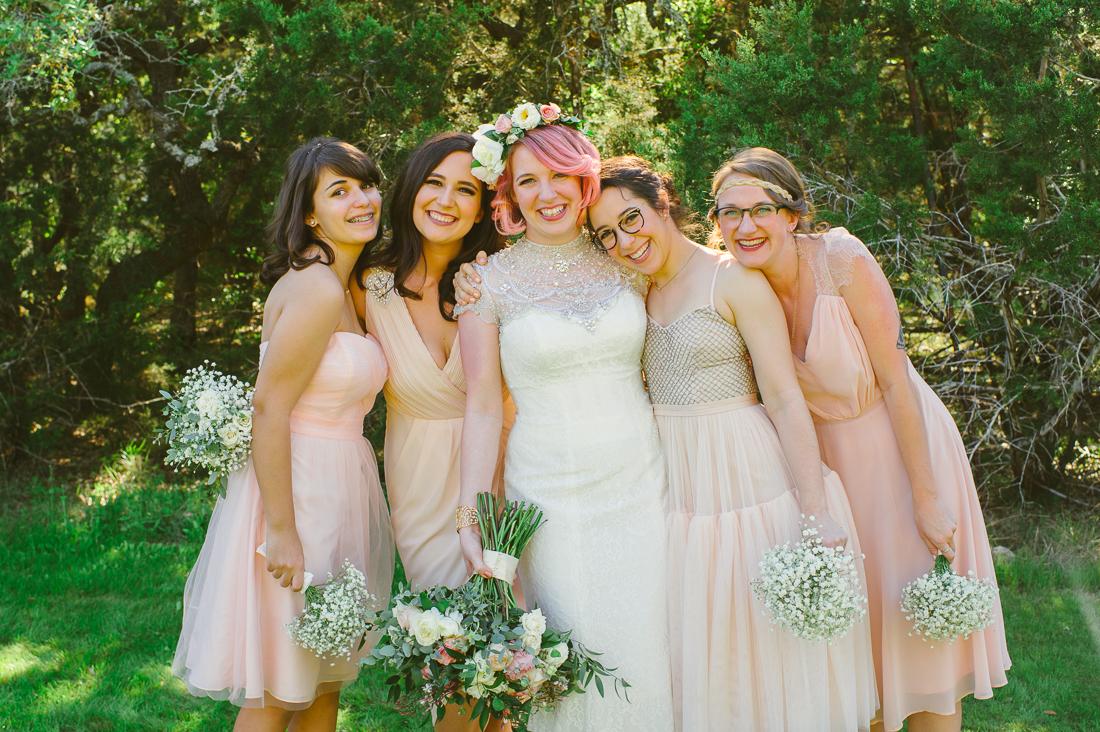 pink pastel bridesmaids