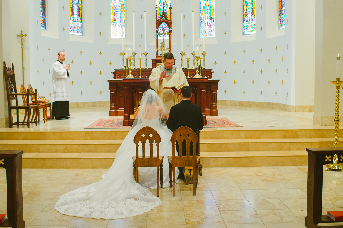 st louis king of france catholic church wedding ceremony