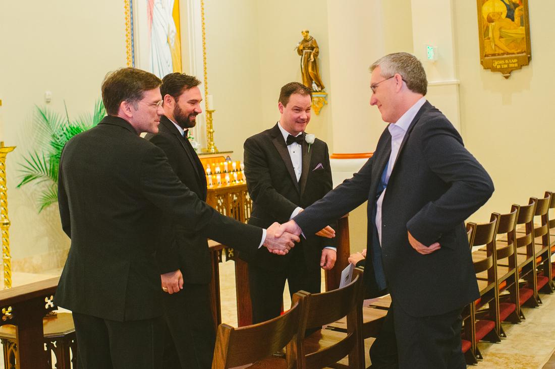 catholic church friendship handshake