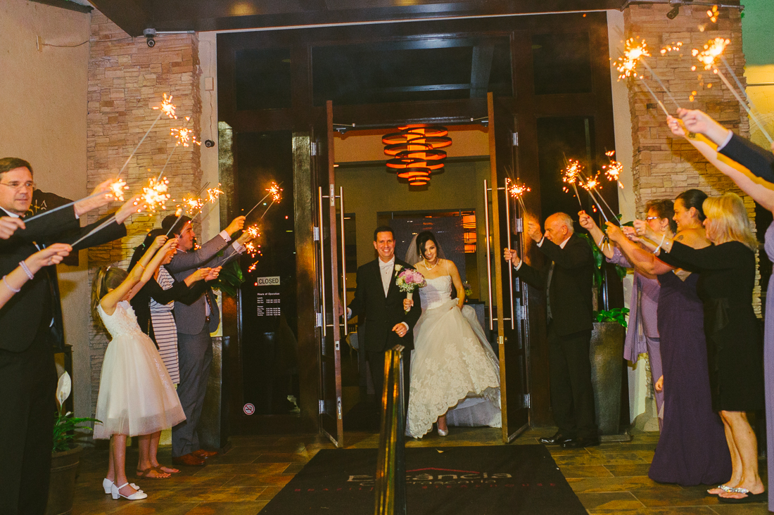 sparkler exit at estancia churrascaria