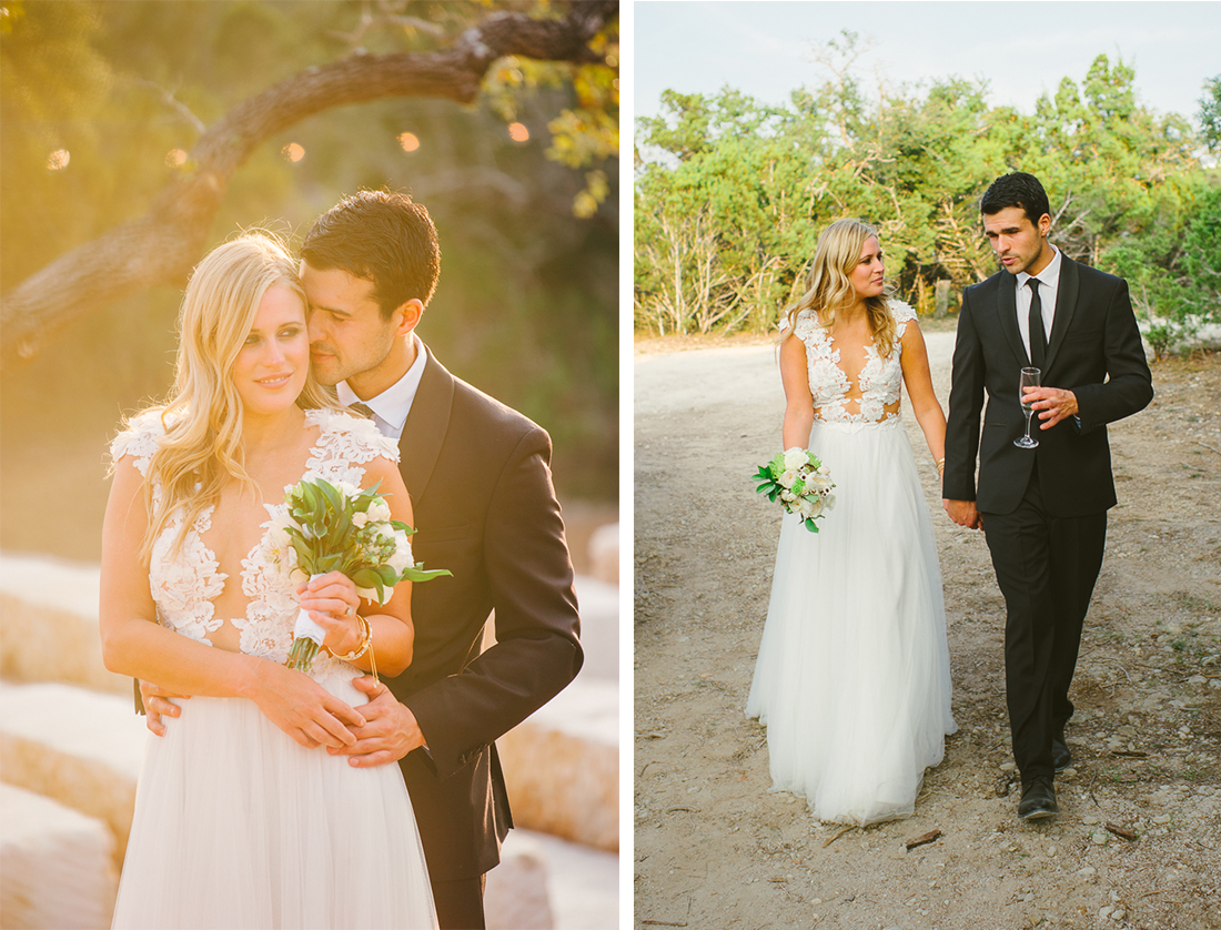 bride and groom pics at sunset