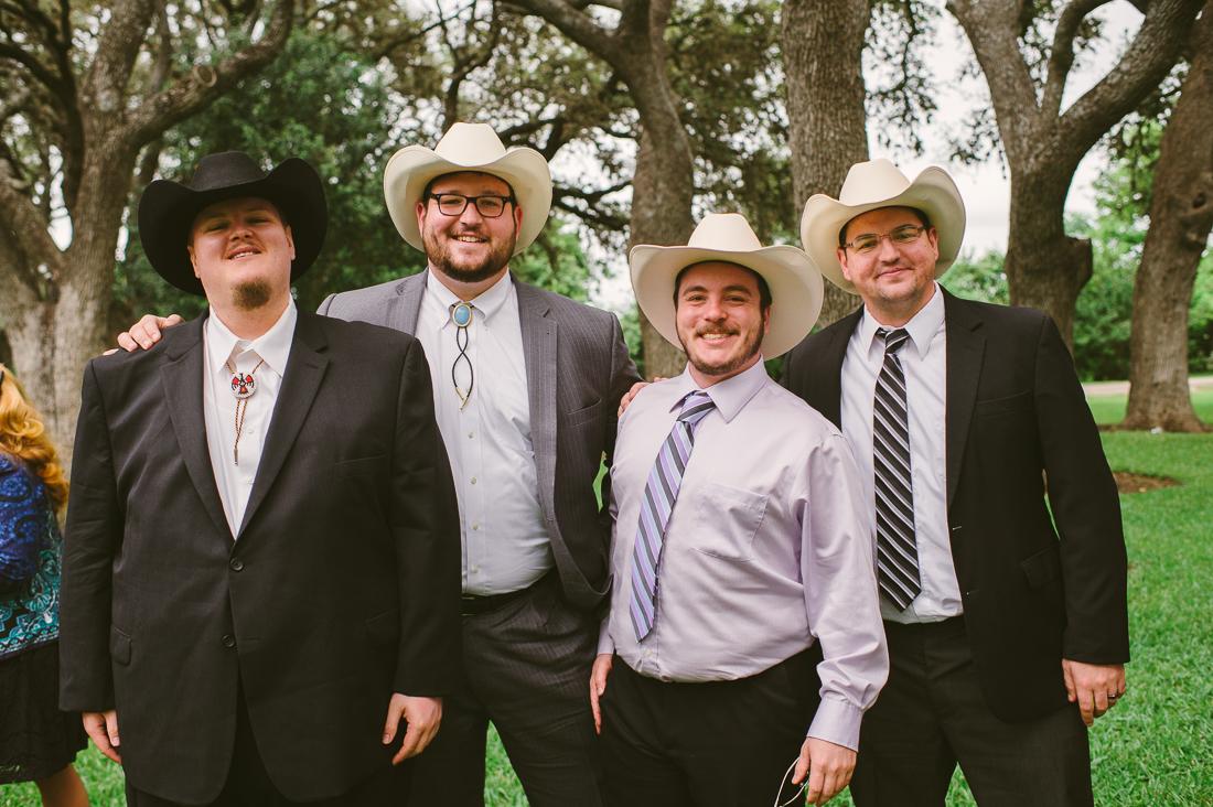 cowboys at the reception