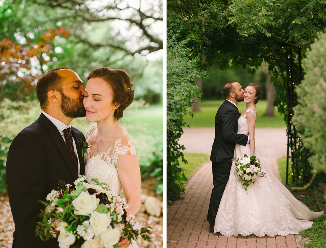 bridal and groom portraits at winfield inn wedding