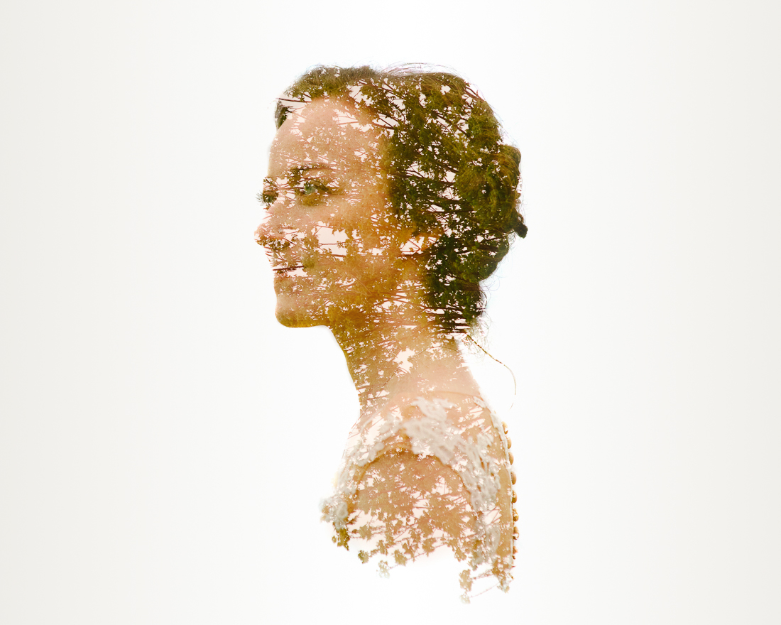 beautiful double exposure of bride at winfield inn