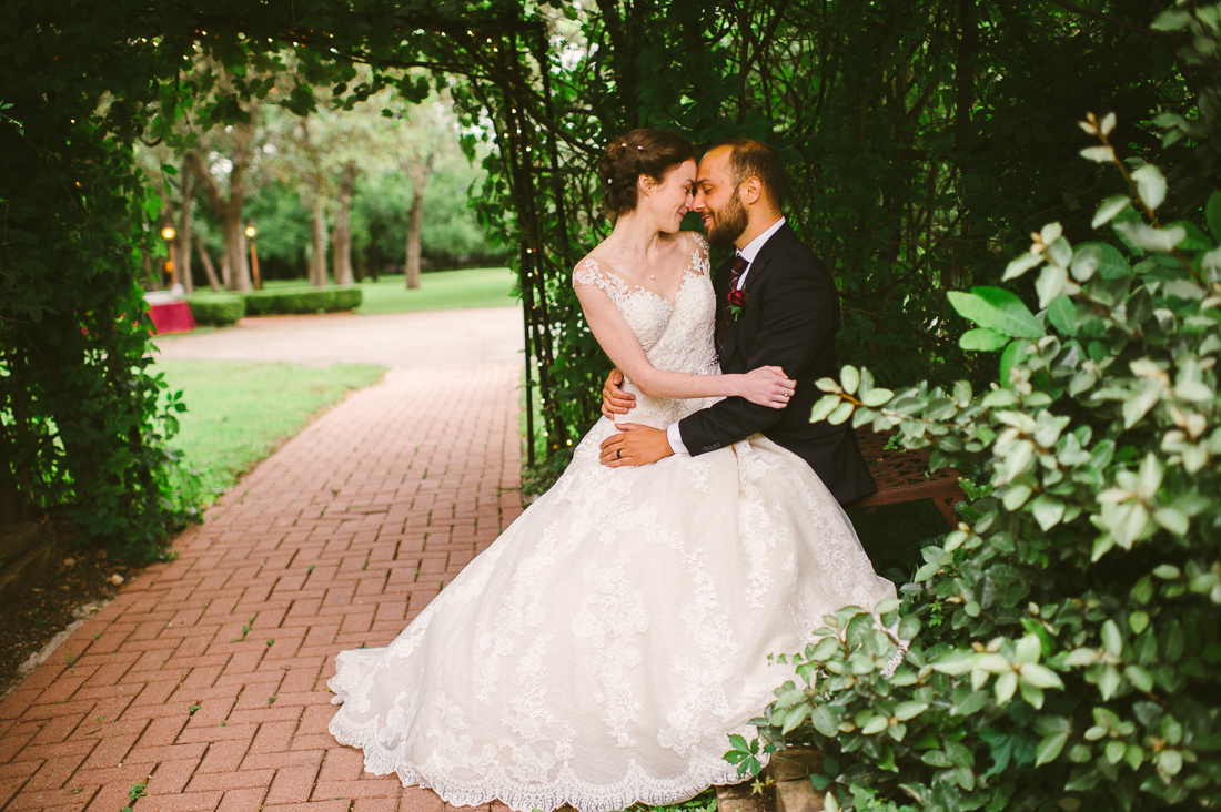 bride and groom at winfield inn