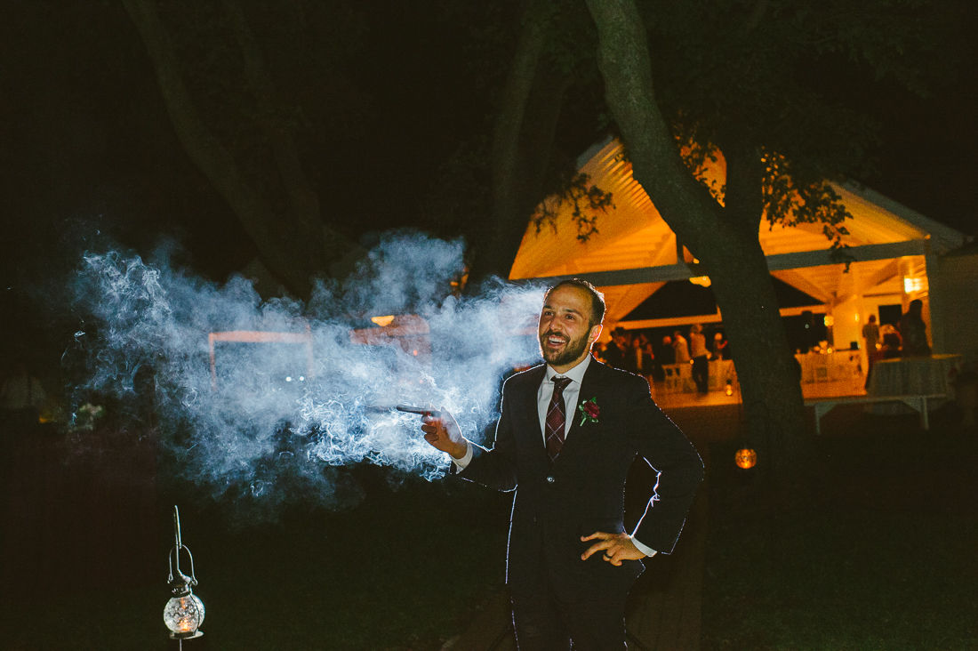 cigar smoke groom photo