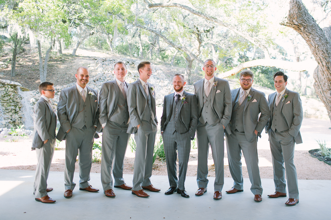 groomsmen at the hill country wedding