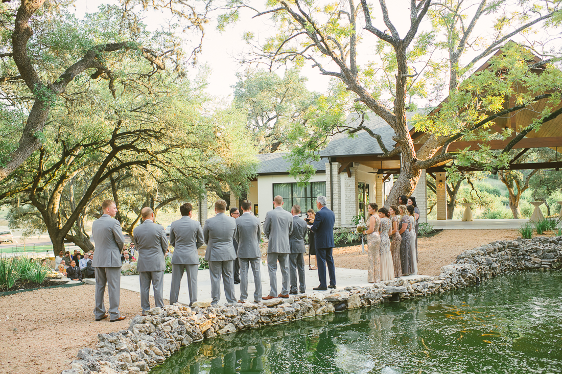 outdoor ceremony in the hill country texas