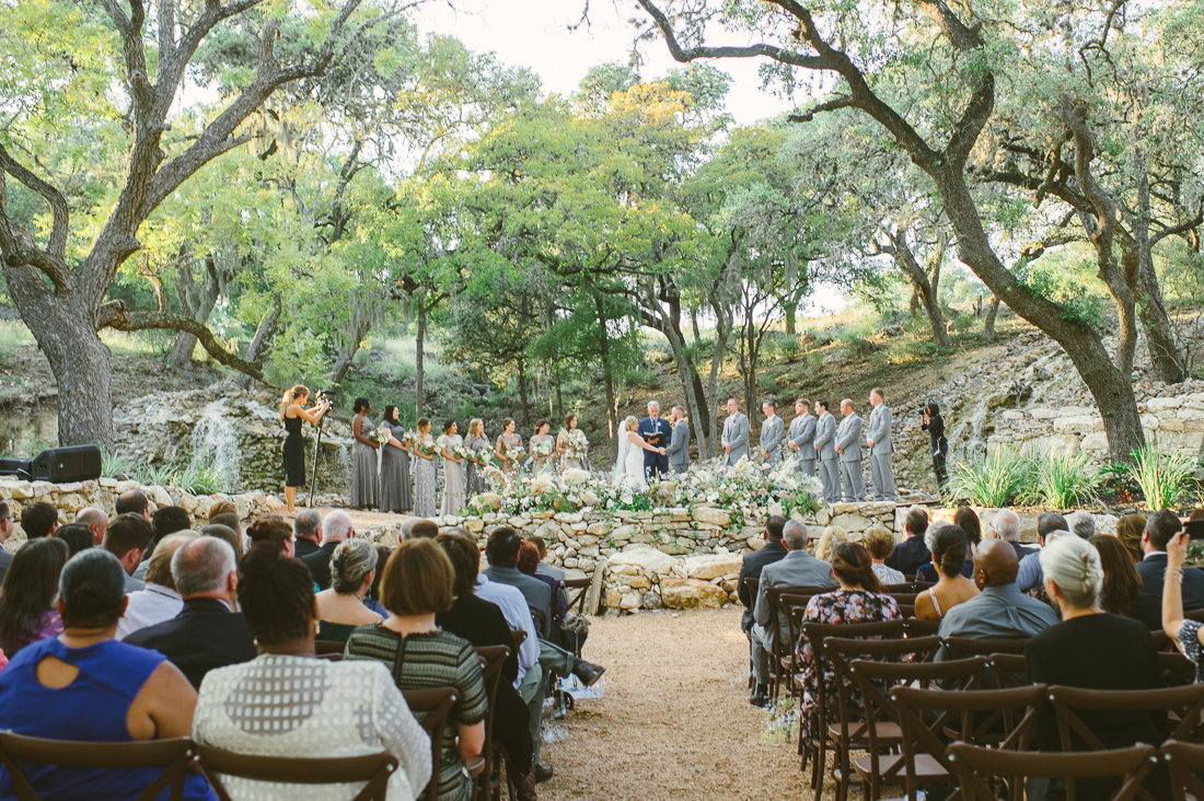 beautiful outdoor ceremony wimberly