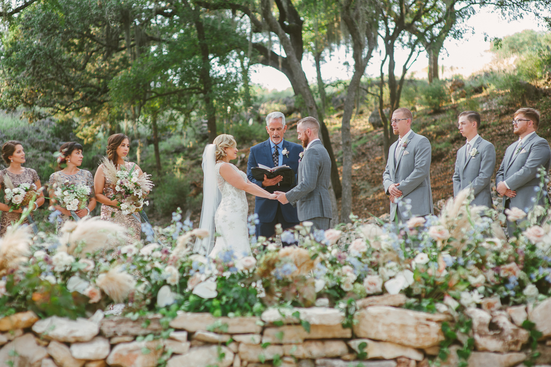 ceremony hayes hollow at hidden falls wedding