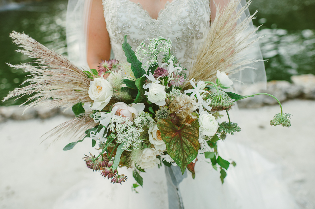 beautiful bouquet held by the bride