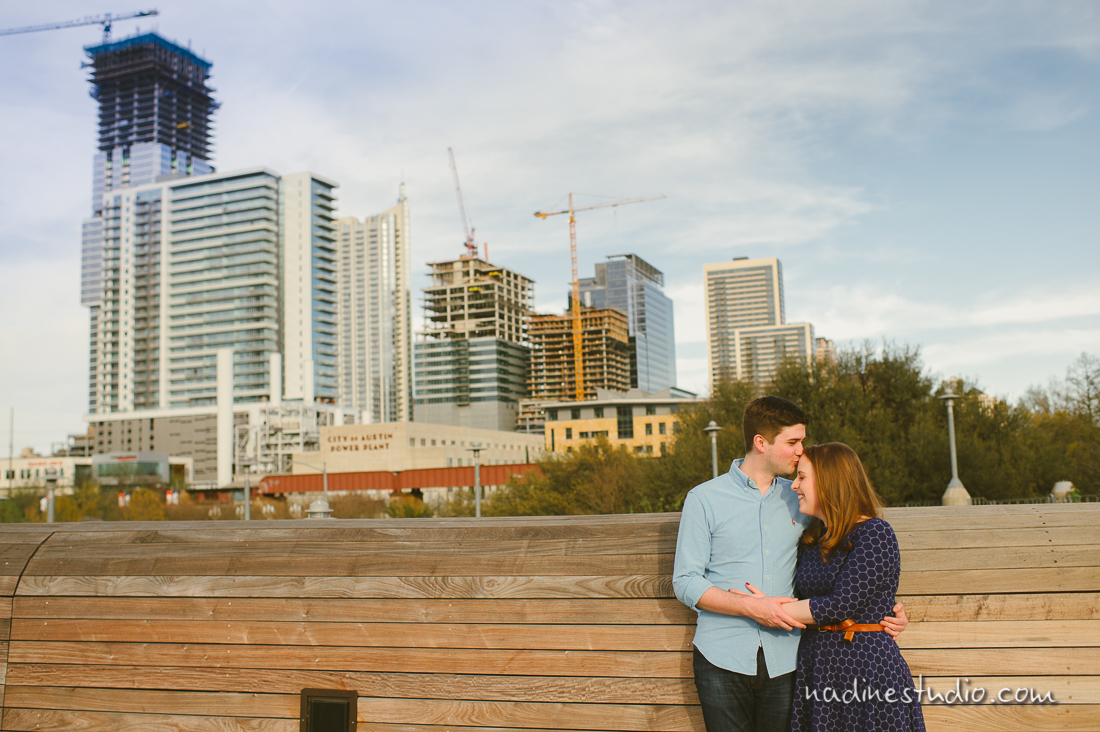 downtown austin skyline engagement