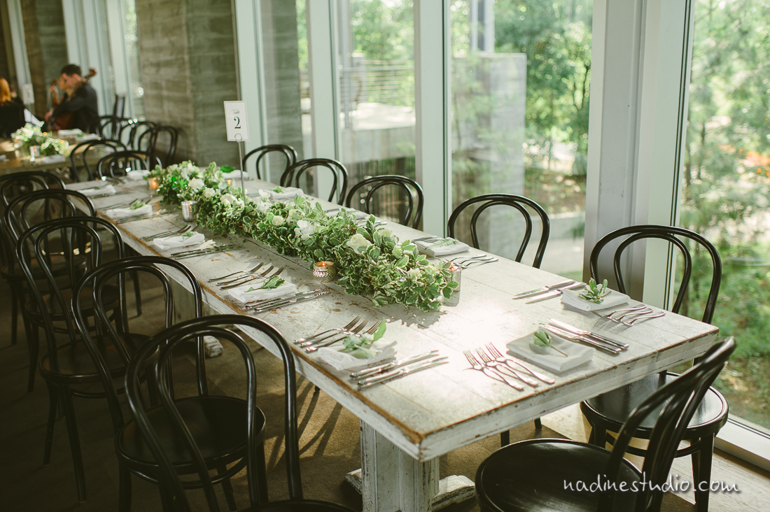 simple green and elegant wedding reception