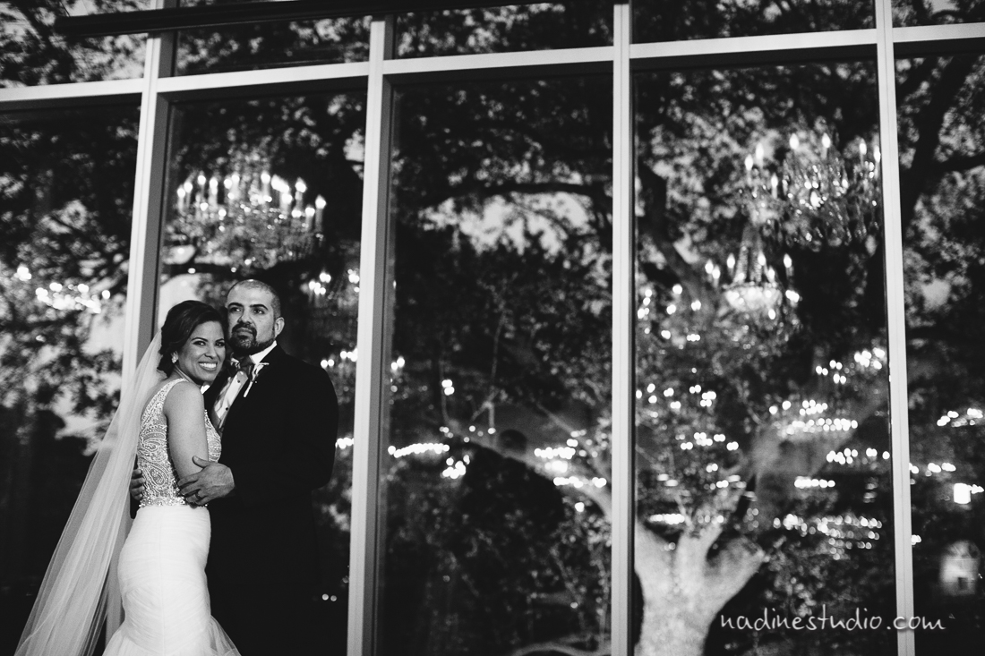 black and white ballroom wedding