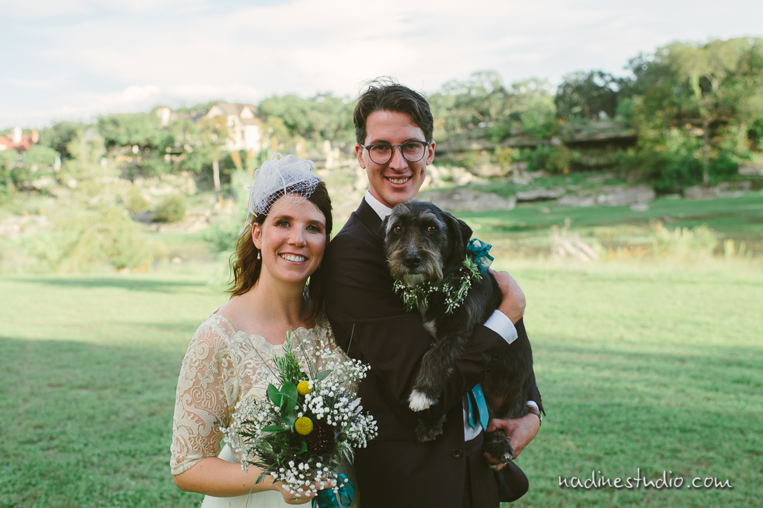 dog bride and groom portrait